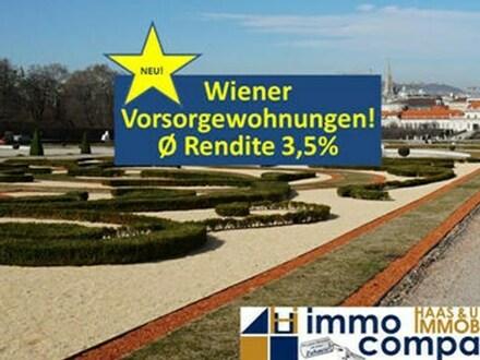 Wiener VORSORGEWOHNUNGEN! Rendite Ø3,5% Provisionsfrei!