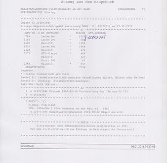 *Top Waldparzellen und Grünland im Südburgenland* Bez. 8380 Jennersdorf/ St.Martin a.d. Raab EZ 55