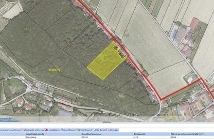 Wald in Ahrenberg mit 5894 m², gute Zufahrt, mit 14m² Bauland, bei Tulln!