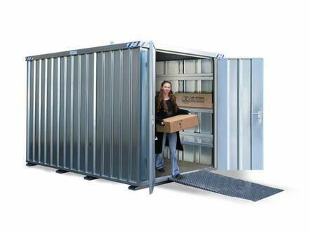 Lagercontainer, Baustellencontainer, Schnellbaucontainer, 2x2m, 1-flügelige Tür auf der 2m Seite