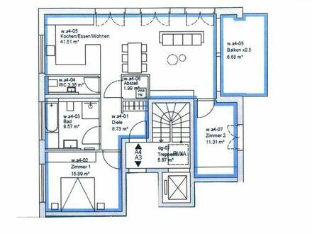 Neubau Hochwertige 3-Zimmer-Penthouse-Wohnung