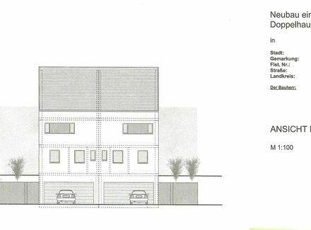 Familien freundliche Doppelhaushälfte mit Tiefgarage in ruhiger, schöner Lage auf 407 m2 Bauplatz