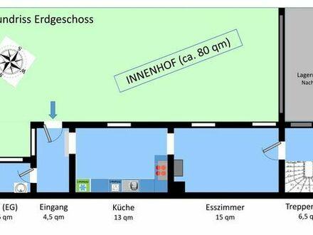 Haus in ruhiger Lage; DÜW-Leistadt (4 Zimmer, Küche, Eßzimmer, 2x Duschbad, eigener Innenhof)