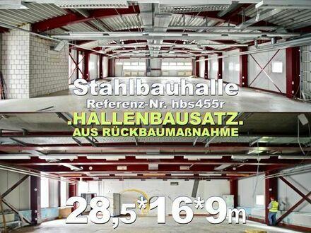 Einmalig solide Stahlhalle 28x16x9m zur Demontage in Eigenleistung