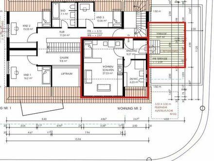 Großzügige moderne 1,5 Zimmer-Wohnung, Erstbezug