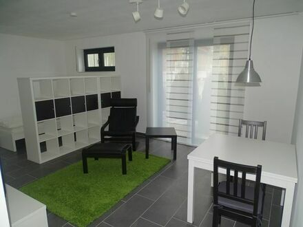 1 Zimmer ELW im EG möbliert mit Terrasse