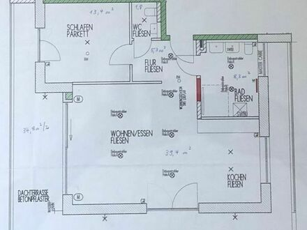 Erstbezug: Exklusive 2,5 Zimmer-Penthousewohnung