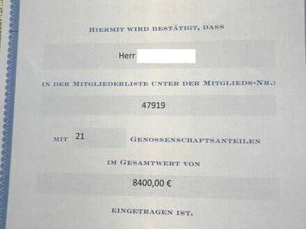 21 Genossenschaftsanteile mit einem Gesamtwert von 8400EUR