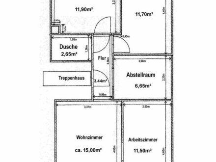 3-Zimmer-Wohnung, besonders für WG-StudentInnen.
