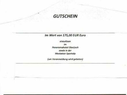 """Wert-Gutschein 175,- EUR """"Alpin Spa""""-4*Panorama Hotel Oberjoch für 110,-EUR"""