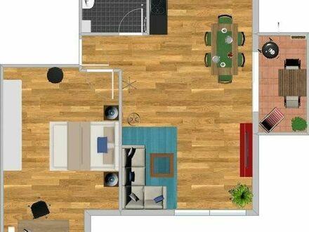 Schöne 2 Zimmer Wohnung, Neubau, Küche Bad, Balkon, Fußbodenheizung, Garage, Keller, Erstbezug