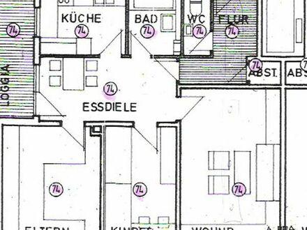 Gepflegte 3,5-Zimmer-Erdgeschosswohnung mit Balkon in Ludwigshafen am Rhein