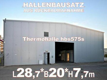 Gedämmte Lagerhalle Stahlhalle 28x20x7m Thermohalle aus Abbruch