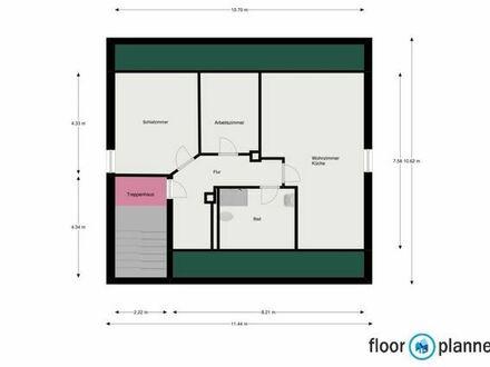3-Zi.-DG-Wohnung mit Einbaukücke