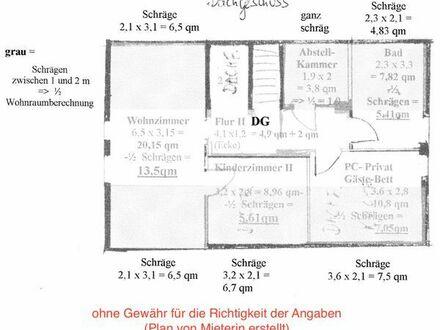 1,5 Zimmer Wohnung in Gomaringen zu vermieten