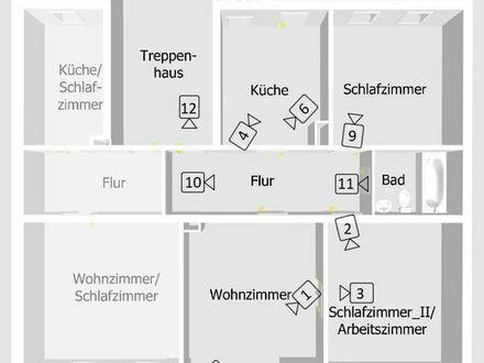 3 Zim., erweit. auf 5 Zim.-Wohnung mit Balkon & Einbauküche 1. OG  Zentrum  familiengeeignet