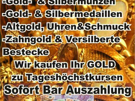 Wir kaufen oder beleihen gegen SOFORT-BARGELD Ihr Gold, Silber, Uhren & Schmuck