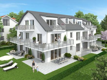 Neubau in Vaterstetten: 3-Zimmerwohnung zzgl. Hobbyraum und Privatgarten
