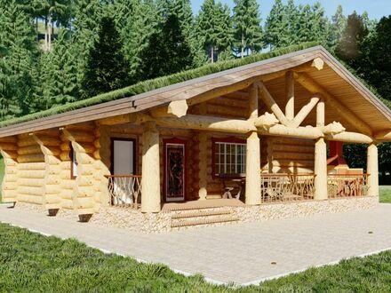 Grunderwerbssteuer nur auf das Grundstück: Super günstiges Naturstamm Holzhaus