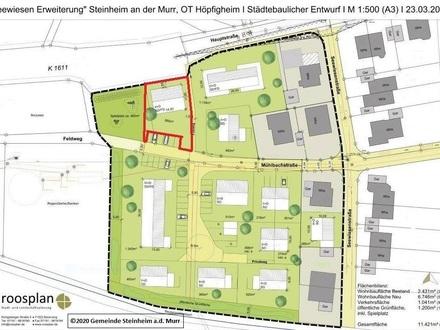 """Bauplatz für ein Doppel- oder Zweifamilienhaus im Neubaugebiet """"Seewiesen-Erweiterung"""" im Erbbaurecht zu vergeben"""