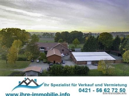 Gnarrenburg: Ehem. Hofgut (jetzt KFZ-Betrieb), über 6 ha, mit mod. Gebäudeensemble, zw. HB und BHV.