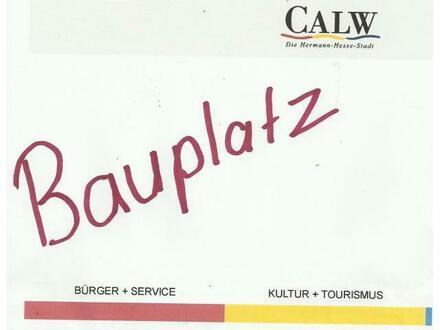 Calw - Alzenberg bez. Bauplatz Baulücke