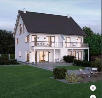 """Neubau: 2 Doppelhaushälften mit """"Reserve"""" im Dachgeschoss. Beide Seiten noch frei, einzeln kaufbar."""