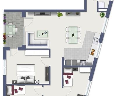 Erstbezug: Exklusive 4-Zimmer-Neubauwohnung mit Loggia, EBK und TG-Stellplatz!