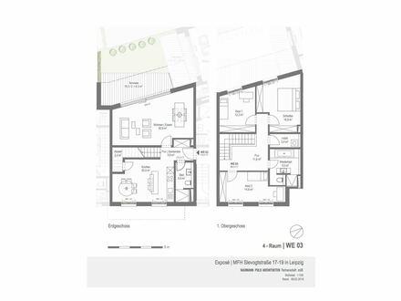 Süd-Elster - Exklusiver Neubau - Maisonette - Terrasse - Garten