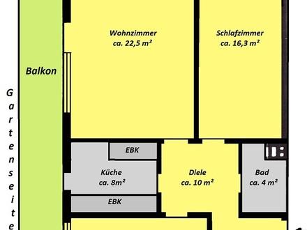 """S 8 """"Neugilching"""", ruhige und großzügige 3-Zi.-Whg., großer West-Balkon"""
