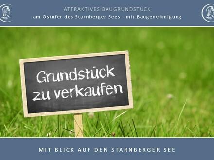 MIT BLICK AUF DEN STARNBERGER SEE - Attraktives Grundstück am Ostufer mit Baugenehmigung