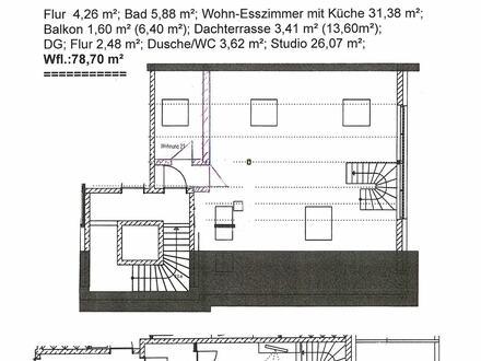 2-Zimmer-Wohnung über 2 Etagen mit Ost-Balkon und Dachterrasse in Memmingen