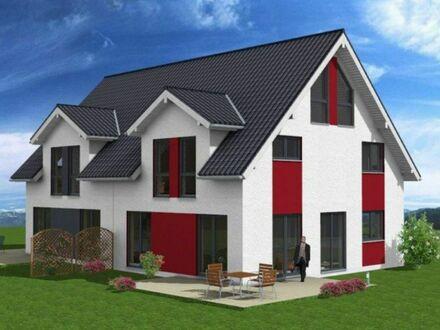 Ihre individuell gestaltete Doppelhaushälfte (Massiv-Holzhaus KfW40) auf einem fast ebenerdigen Grundstück ohne Altlasten