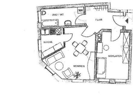 Schöne, helle 2 Raumwohnung zu vermieten.