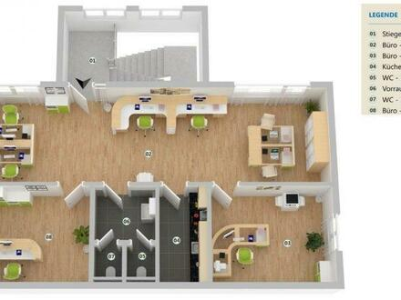 Helle, moderne Büroräume mit sehr guter Anbindung und 4 PKW-Plätzen!