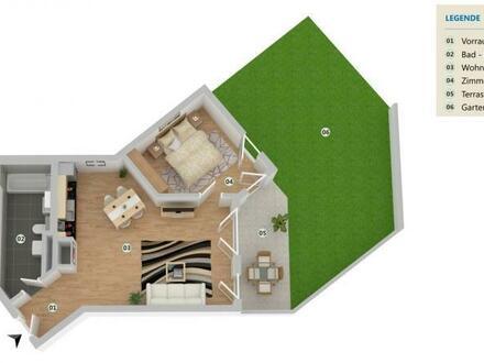 Helle Wohnoase mit Terrasse und Garten!