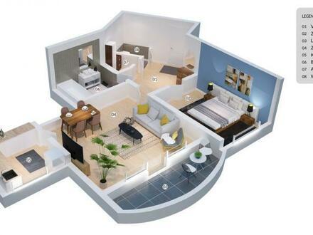 Zweizimmer-Stadtwohnung mit sonniger Loggia!