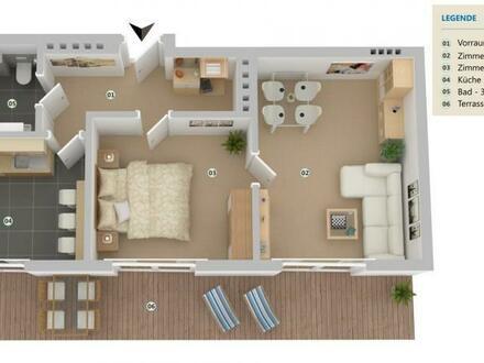 Neu saniertes Schmuckstück mit Terrasse und exzellenter Infrastruktur