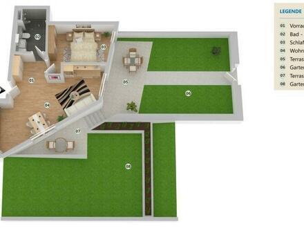 Schmuckstück mit 77 m2 Garten!