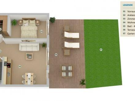 NEUBAU Traumwohnung mit Terrasse und Eigengarten