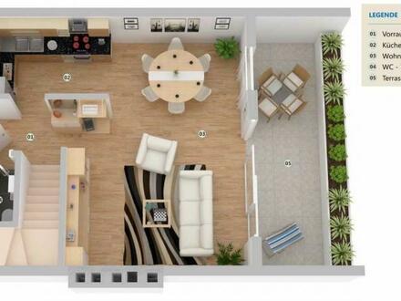 Zentrale Maisonette mit herrlicher Terrasse und Balkon!