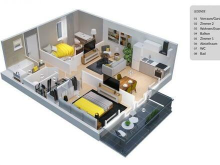 NEUBAU: Helle Wohnung mit Optimaler Raumaufteilung.