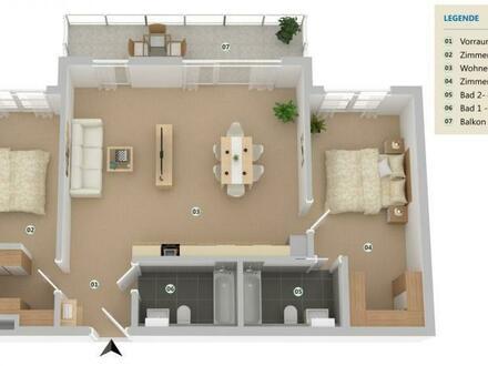 NEUBAU 3 Zimmer Traumwohnung mit Balkon!