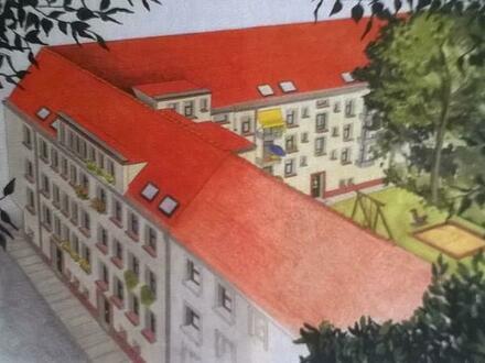 1-Zimmer-Wohnung mit Aussicht ins Grüne