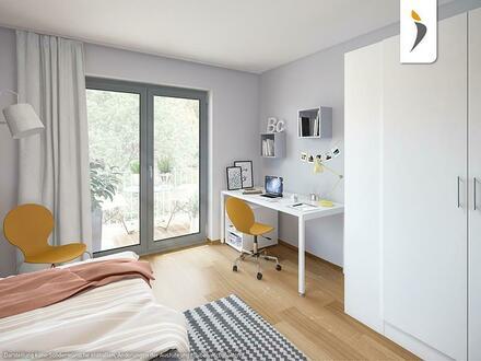 Ideale Vermietbarkeit in Trend-Anlage: Stilvoll möbliertes Apartment mit Dachterrasse