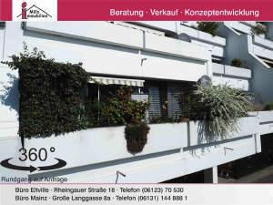 Perfekte 2-Zimmer-Wohnung mit großem Balkon in top-Lage von Mainz Finthen