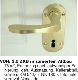 VOH: 3,5 ZKB in saniertem Altb...