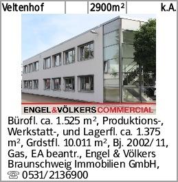 Veltenhof 2900m² k.A. Bürofl. ca. 1.525 m², Produktions-, Werkstatt-,...