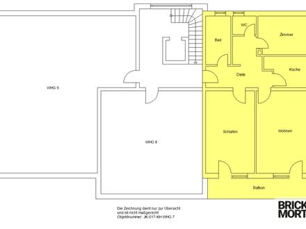 Wohnen im Alter! Sanierte 3-Zimmer-Wohnung gegenüber Tagespflege! 89m²!