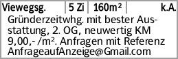 Viewegsg. 5 Zi 160m² k.A. Gründerzeitwhg. mit bester Ausstattung, 2. OG,...